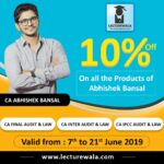 Get 10% Discount on All the Products of CA Abhishek Bansal
